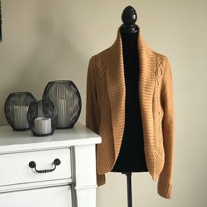 NWOT Target Mossimo Gold Sweater Cardigan Size XL